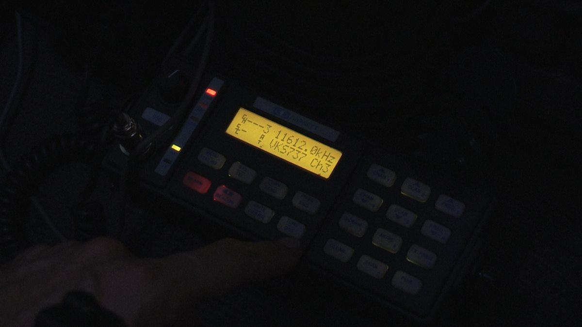 The Barrett 950 HF radio.