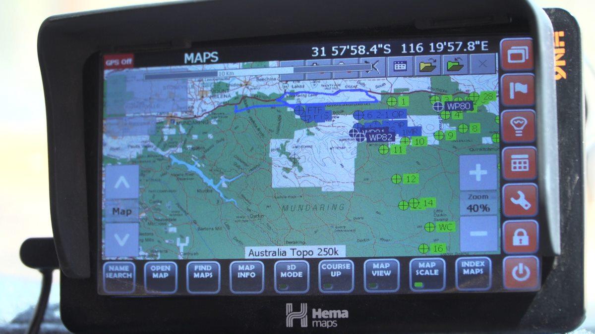 Hema off-road navigation.