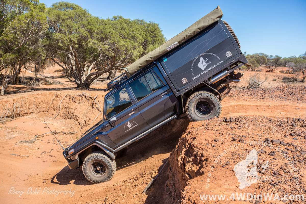 Toyota 79 series Landcruiser in the outback.