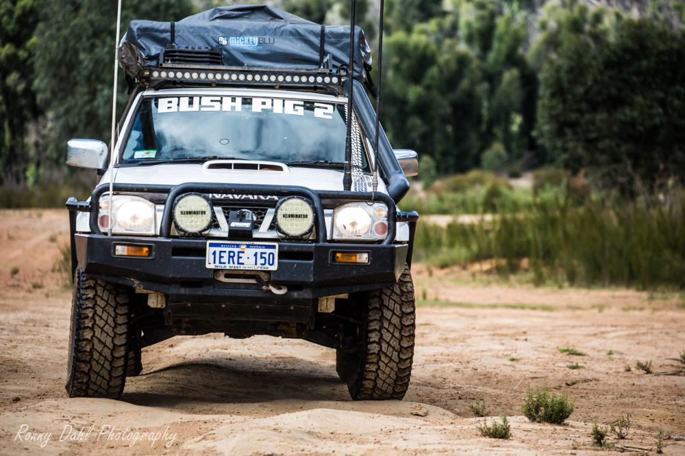 Nissan Navara D22, modified.