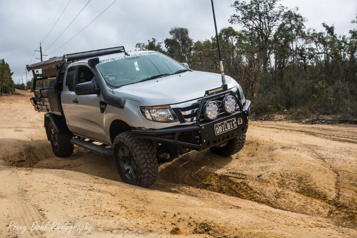 Ford Ranger PX, modified on the Powerline.