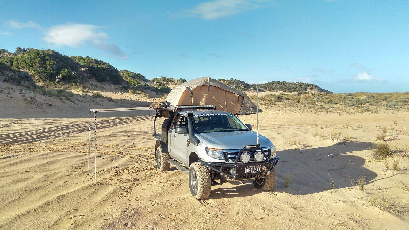 Ford Ranger PX, modified. On the beach.