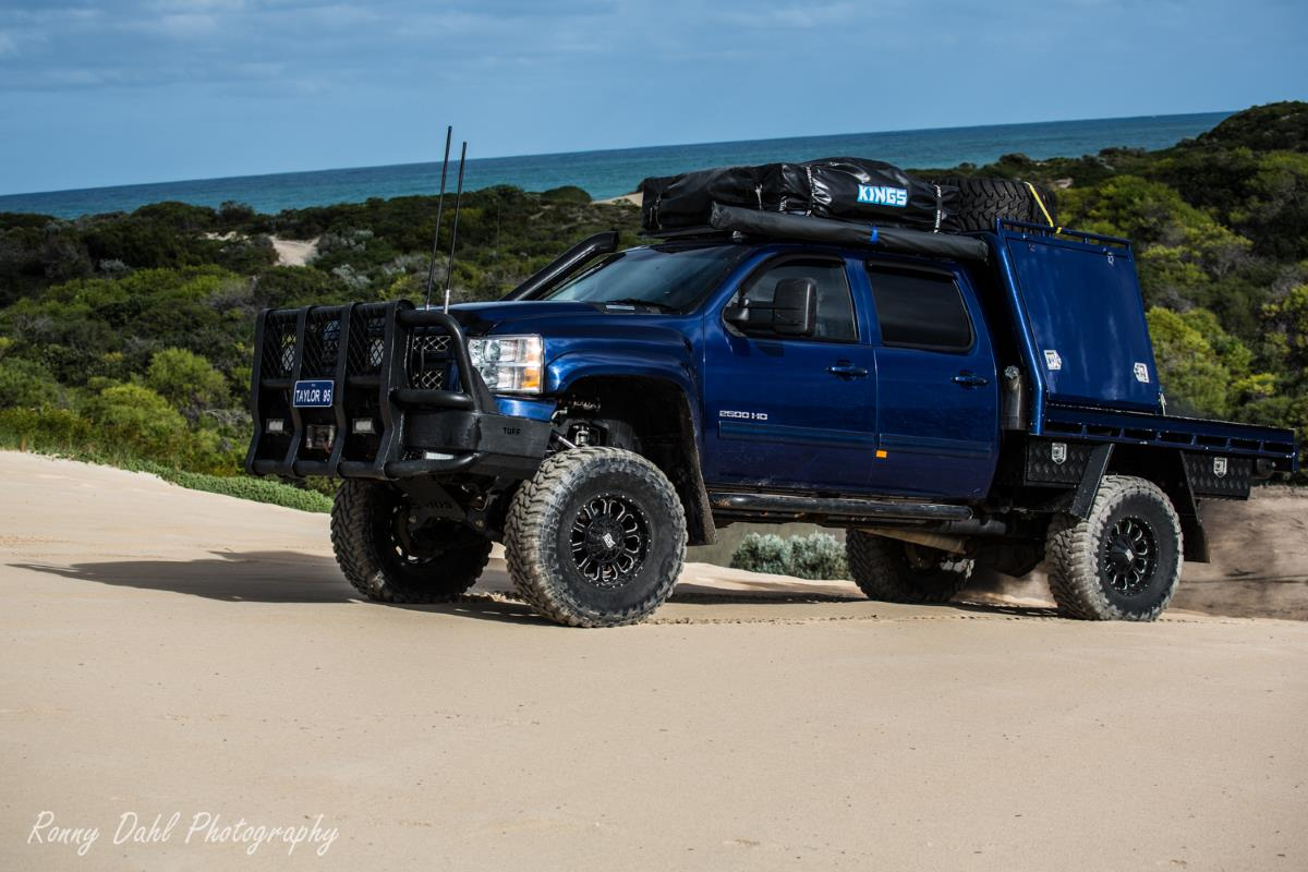 Chevrolet Silverado, modified.