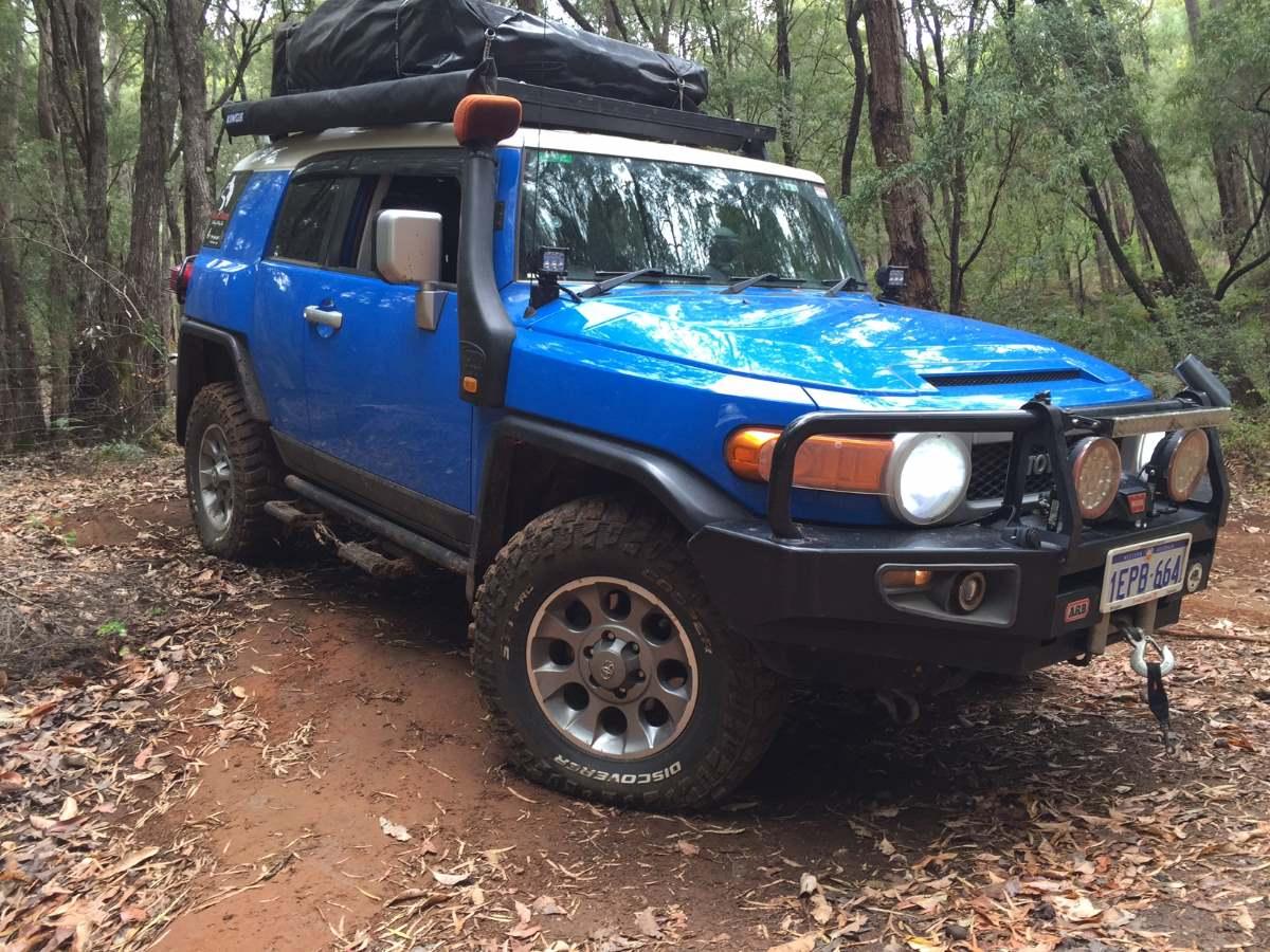 Toyota FJ Cruiser in the bush.