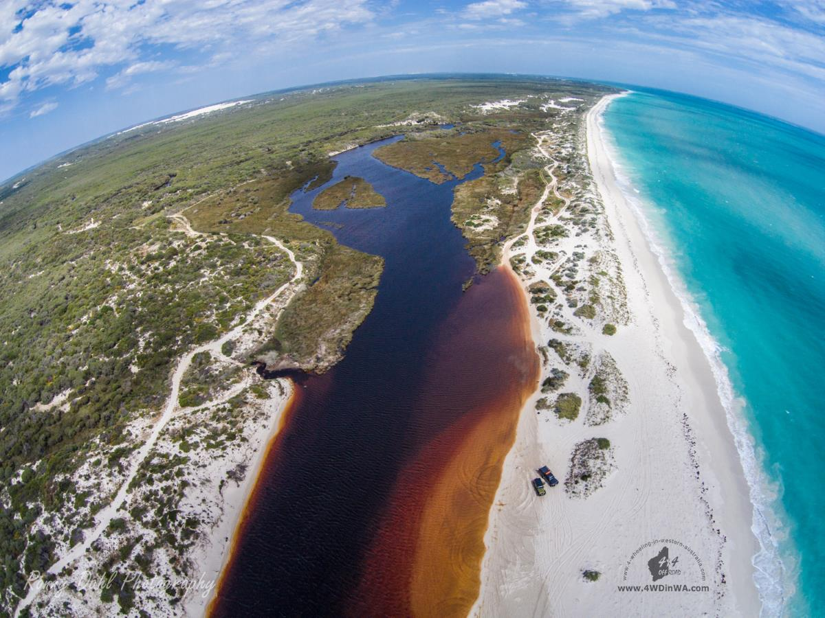 Hill River mouth, Western Australia.