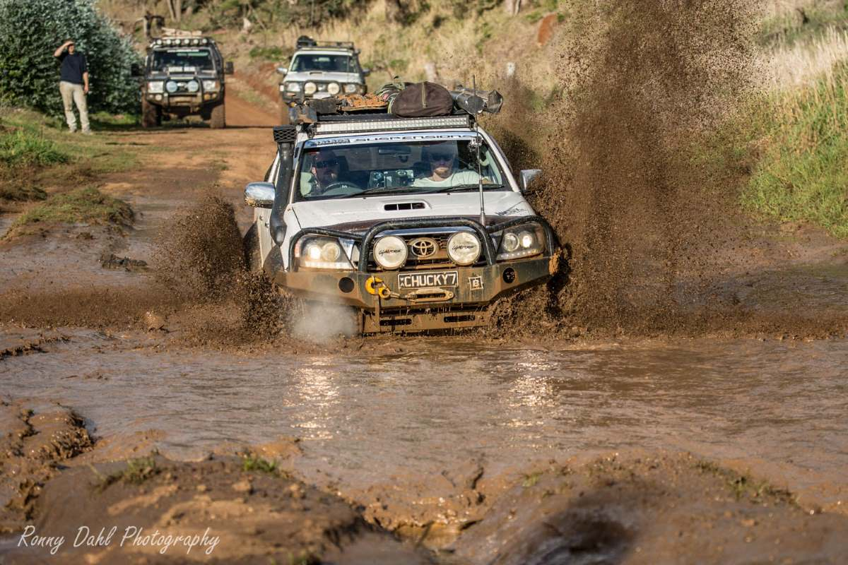 Toyota SR5 stuck in the mud.