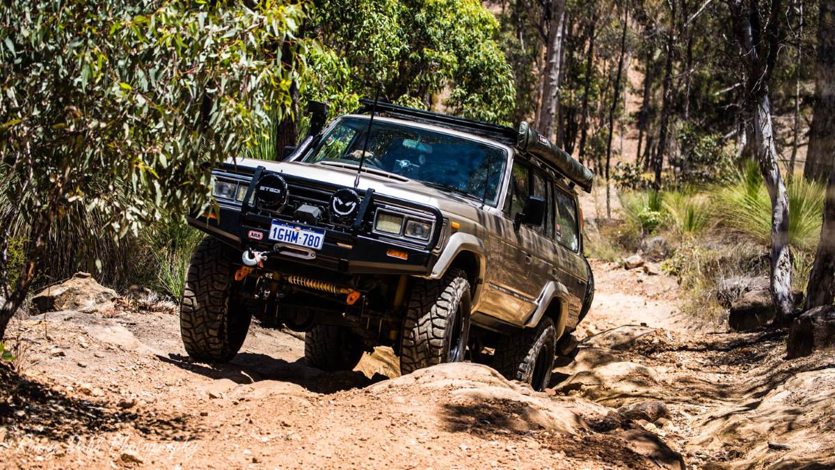 Toyota Land Cruiser HJ60, modified.