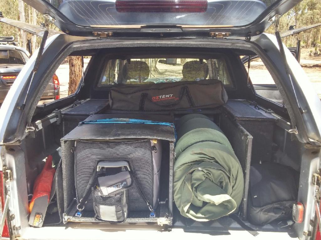 Holden Rodeo inside.