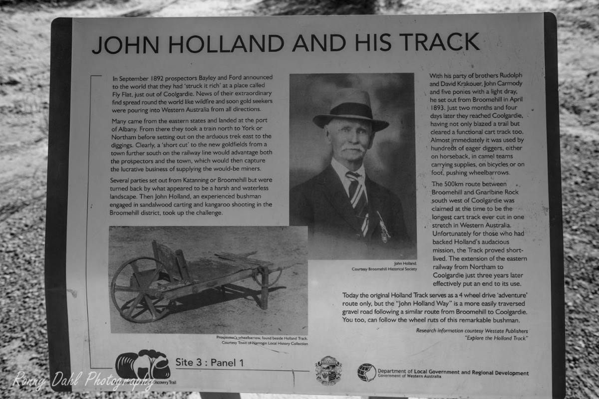 John Holland and his track.