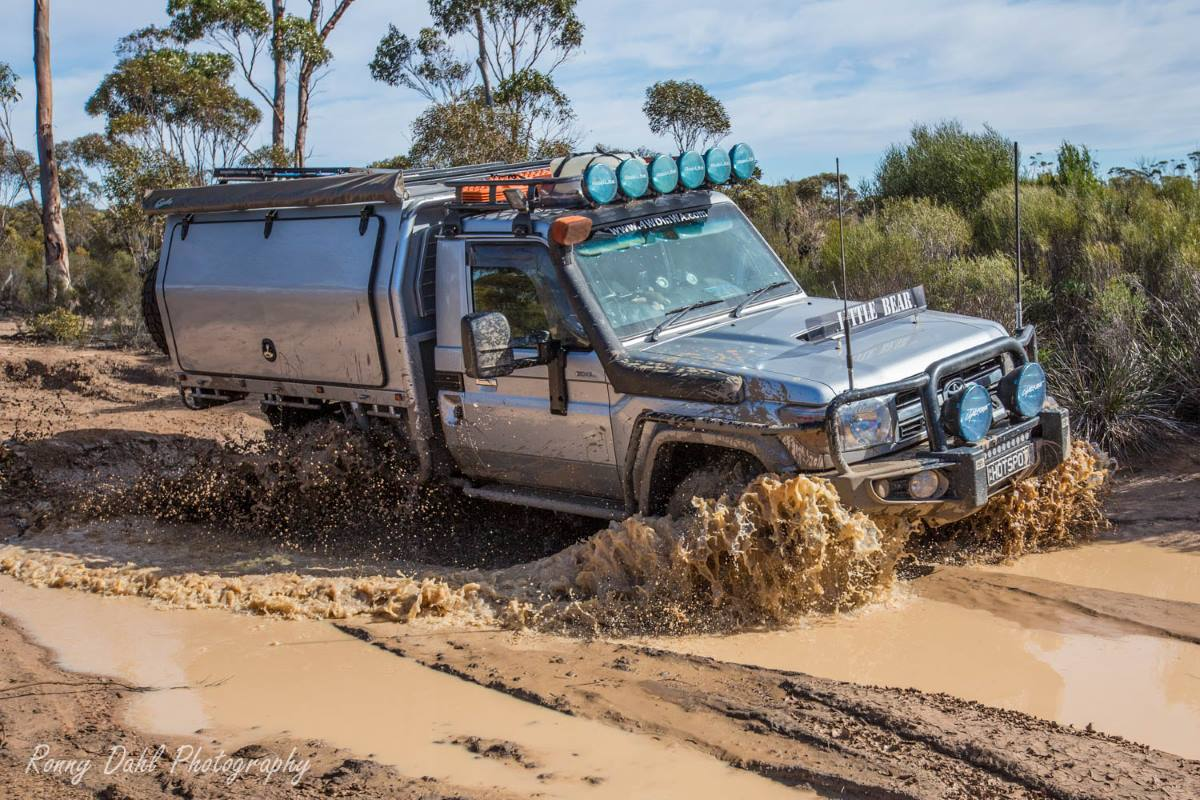 79 Series Landcruiser on the Holland Track, Western Australia.