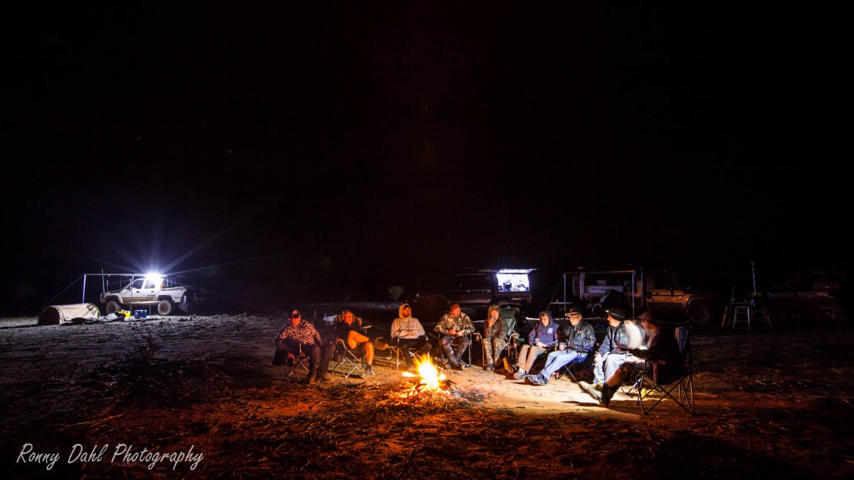 Campfire on the Holland Track, Western Australia.