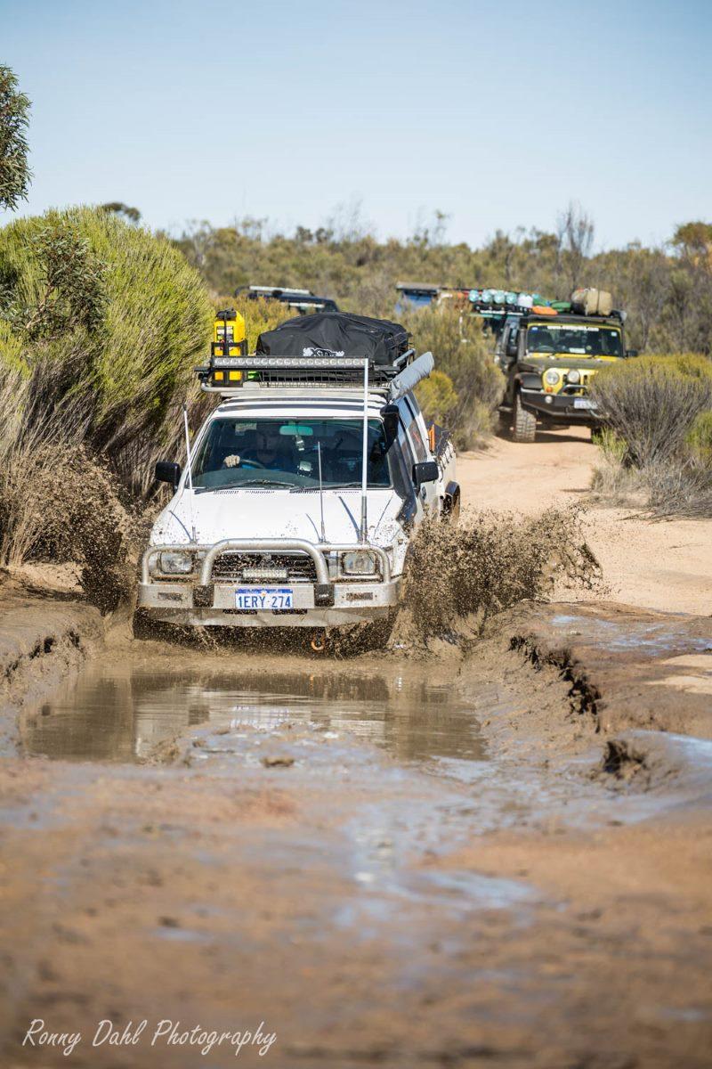 Bog hole at the Holland Track. Western Australia.