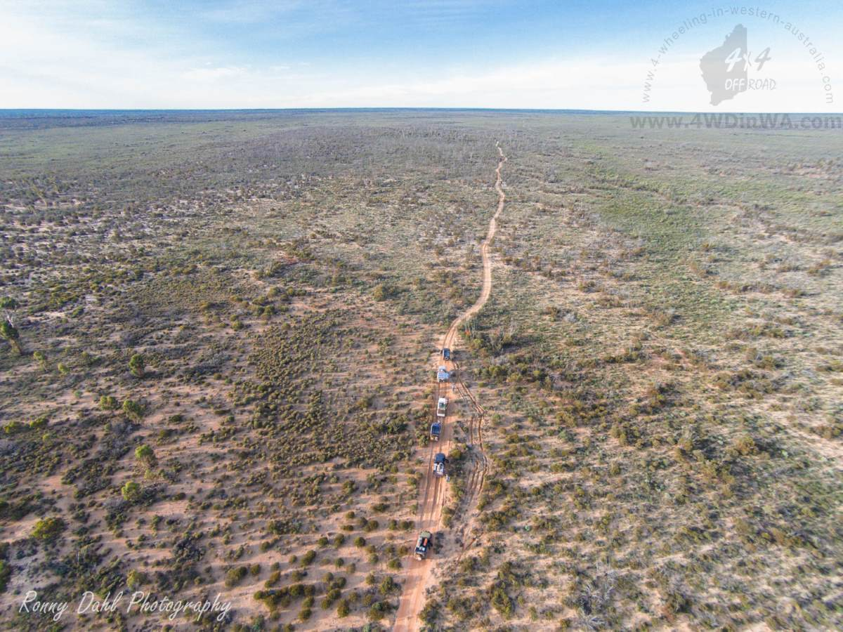 The Holland Track, Western Australia. Arial photo.