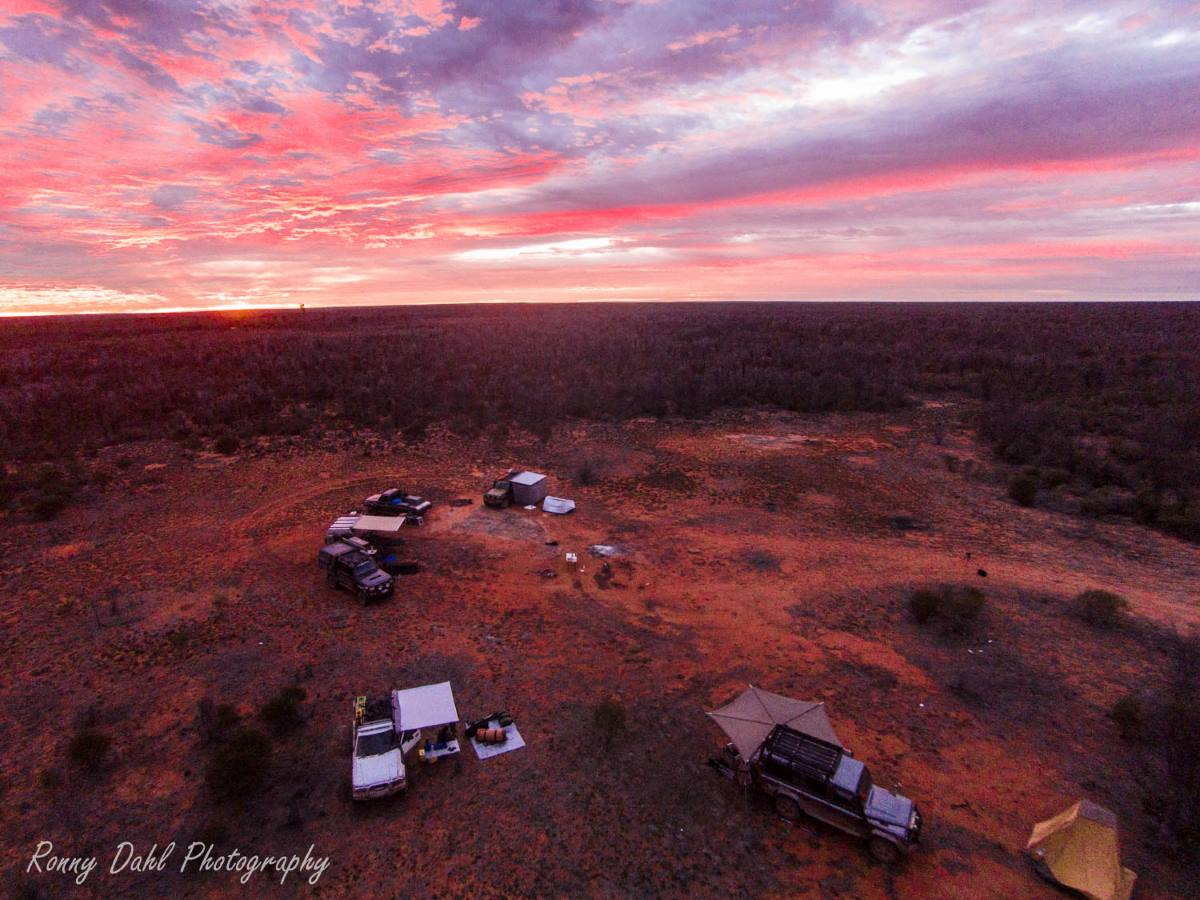 Outback camping at the Holland Track, Western Australia.