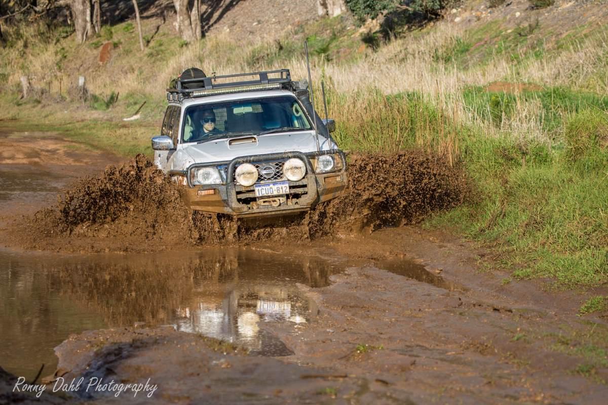 GU Patrol Wagon in mud.