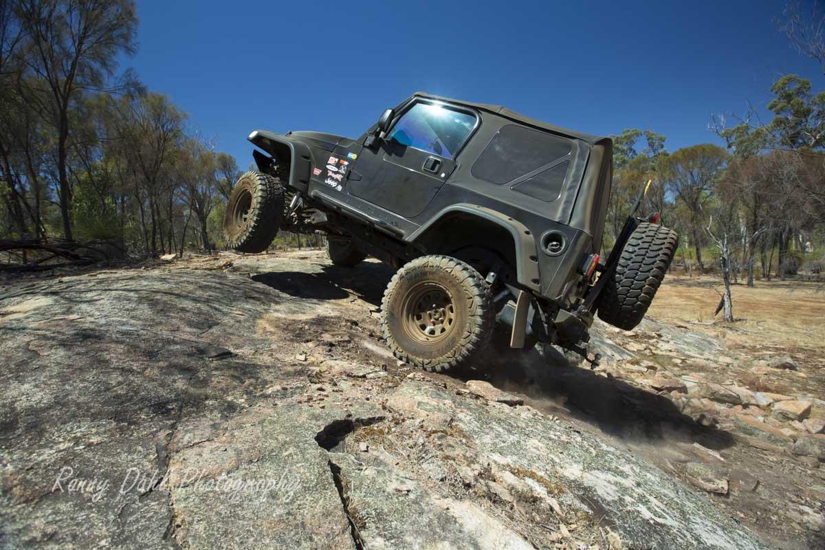 Jeep Wrangler wheel lift.