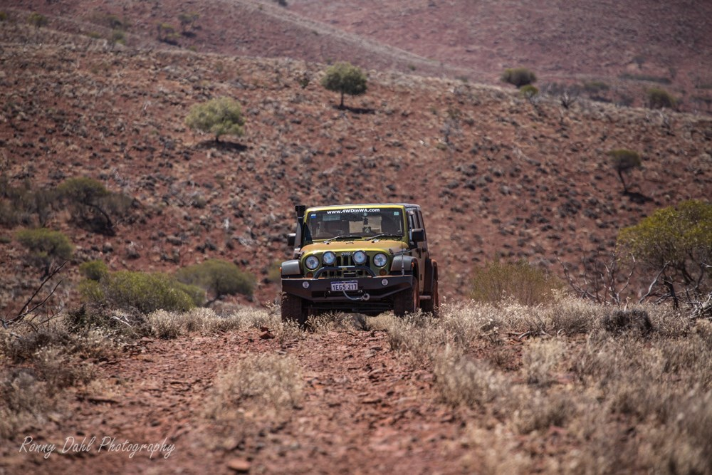 Jeep Wrangler at Ninghan Station, Western Australia.