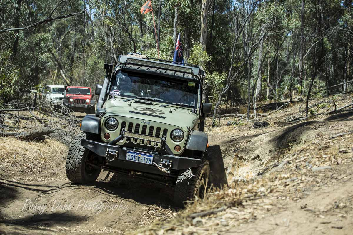 A balanced Jeep Wrangler, setup for touring and the tougher trails.
