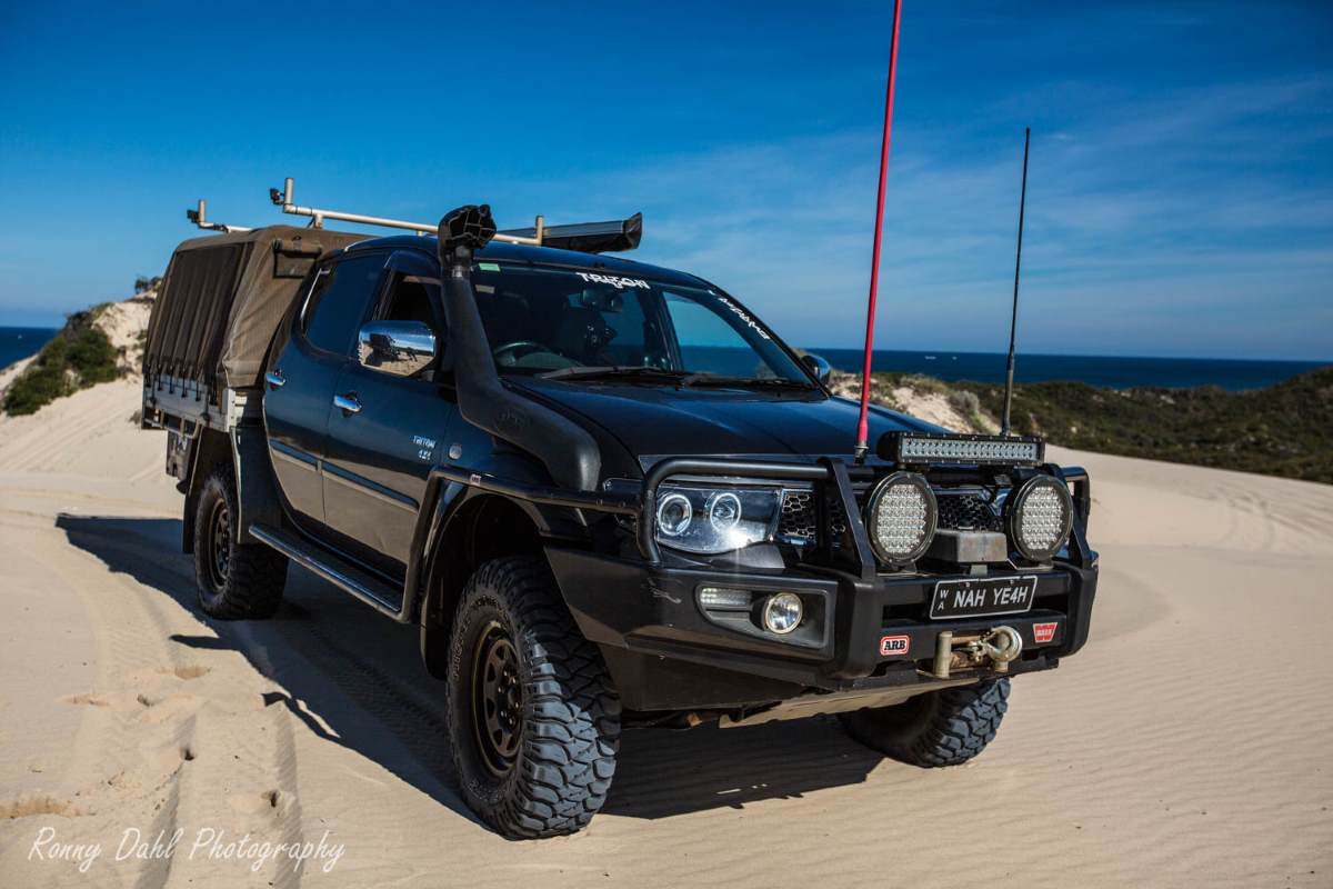 Modified Mitsubishi Triton 4x4.