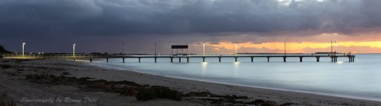 Jurien Bay jetty by night.