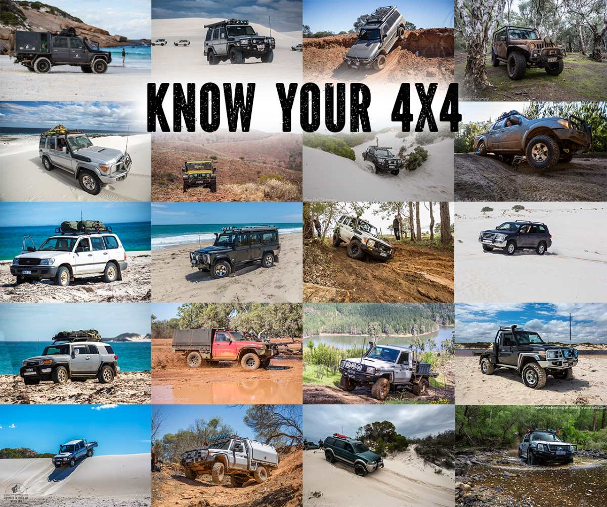 Know Your 4x4. A variety of 4 wheel drives.