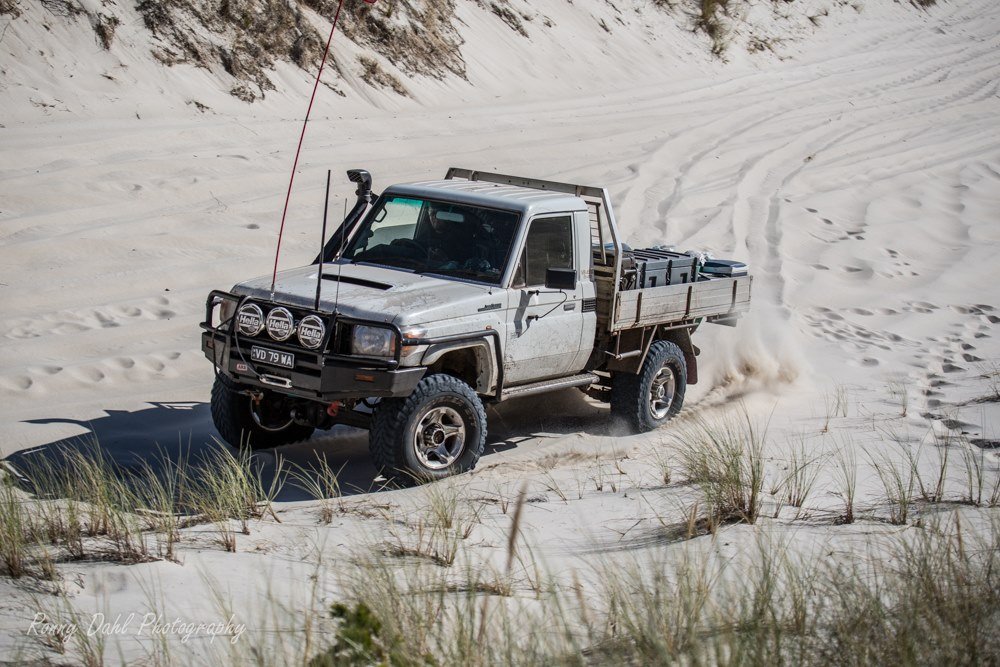 Landcruiser at Callup Hill.