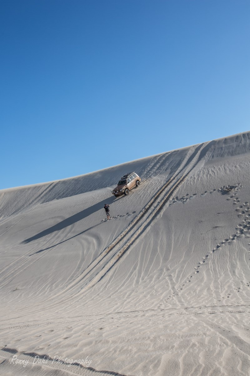4 wheeling in the sand dunes.