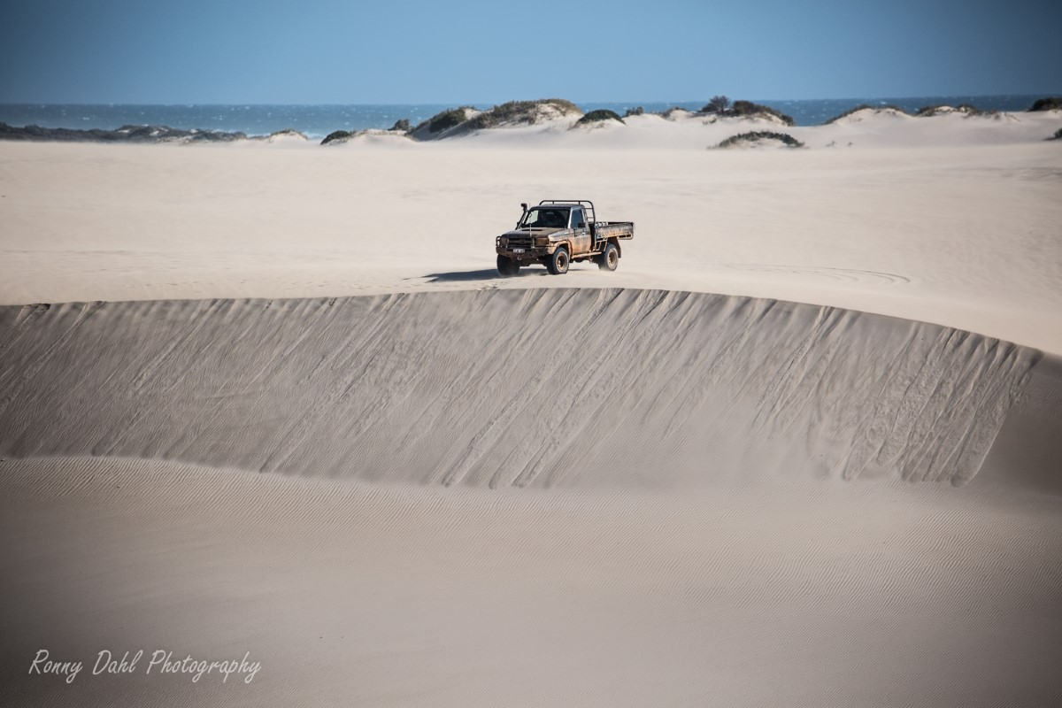 Sandunes at Lucky Bay, Western Australia.