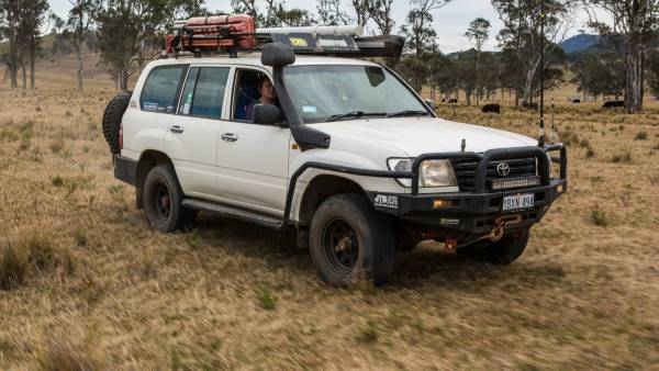 105 series Landcruiser, modified.