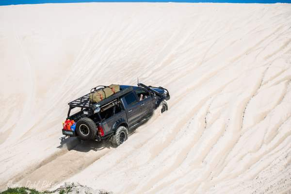 Toyota TRD Hilux, Modified. On a sand dune.