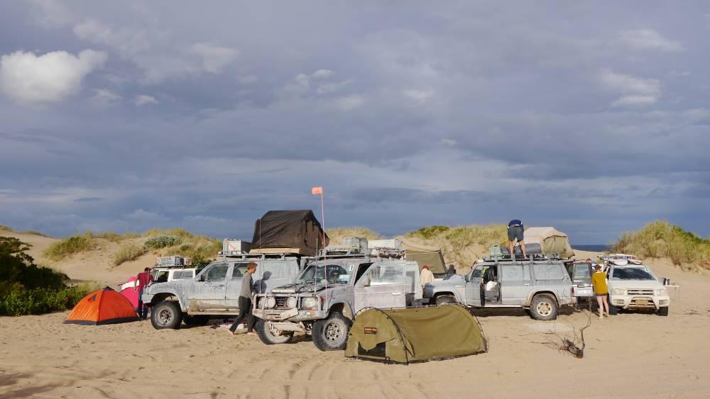 Camping with the Mitsubishi Pajero NJ.