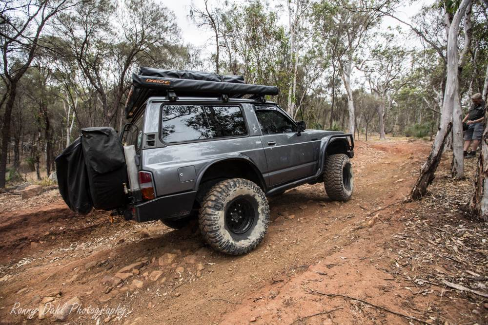 Ford Maverick 4x4 SWB on a bush track in Western Australia.