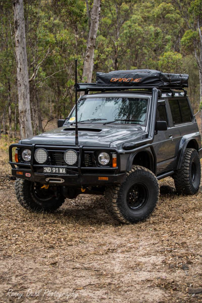 Ford Maverick 4x4 SWB on a bush track.