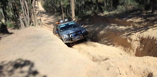 Hillclimb at Mundaring Power Line Track