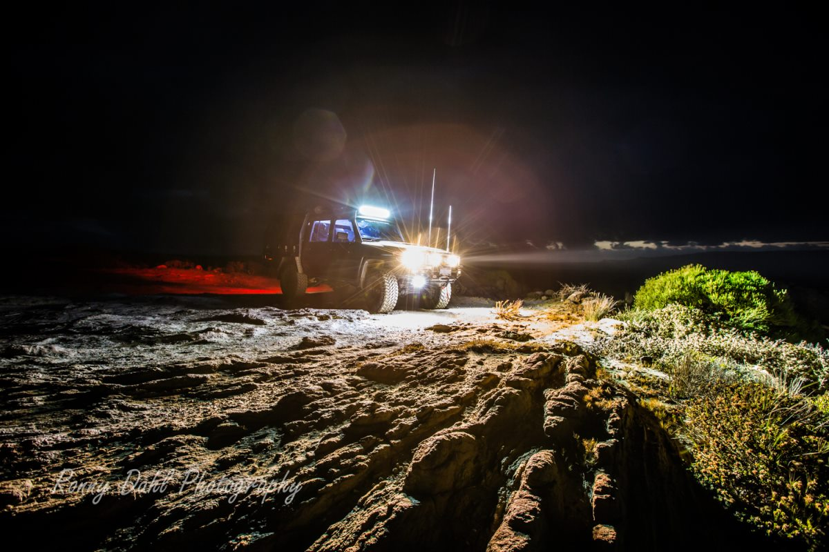 Night lights on a 79 Series Land Cruiser.