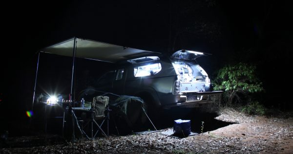Camping At Night.