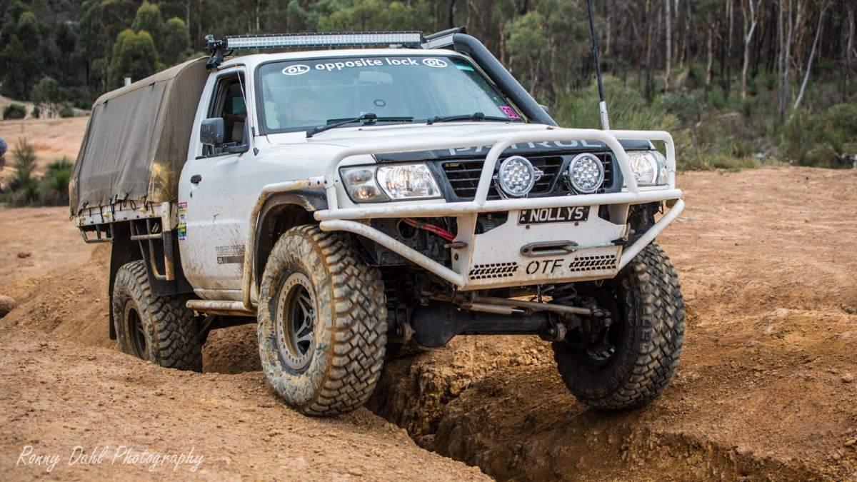 Nissan GU Patrol Ute on the Powerline, Western Australia.