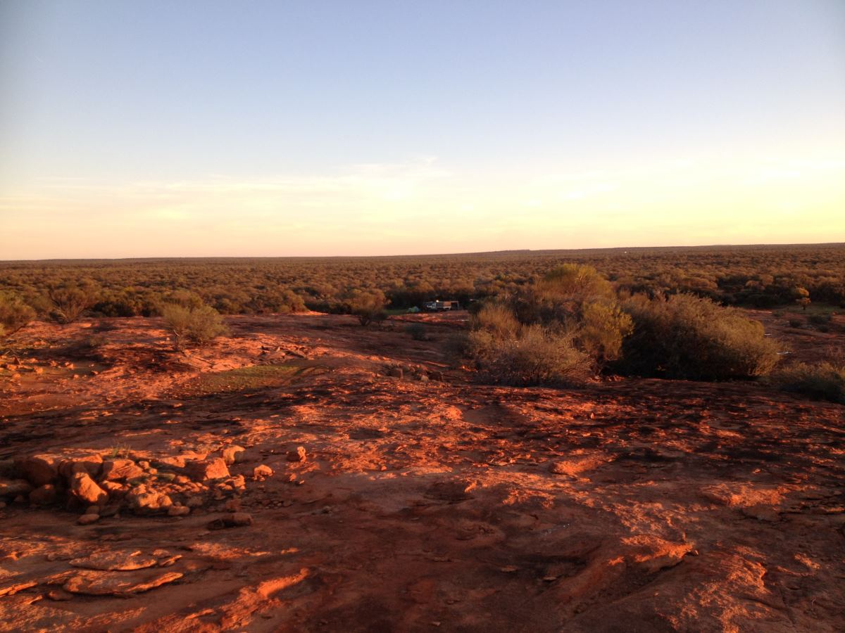Camping in outback Australia.