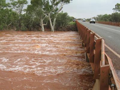 The Pilbara rivers run red.