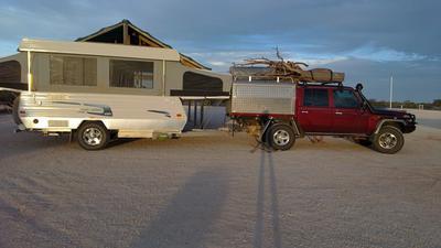 Ute & Van roadside camp