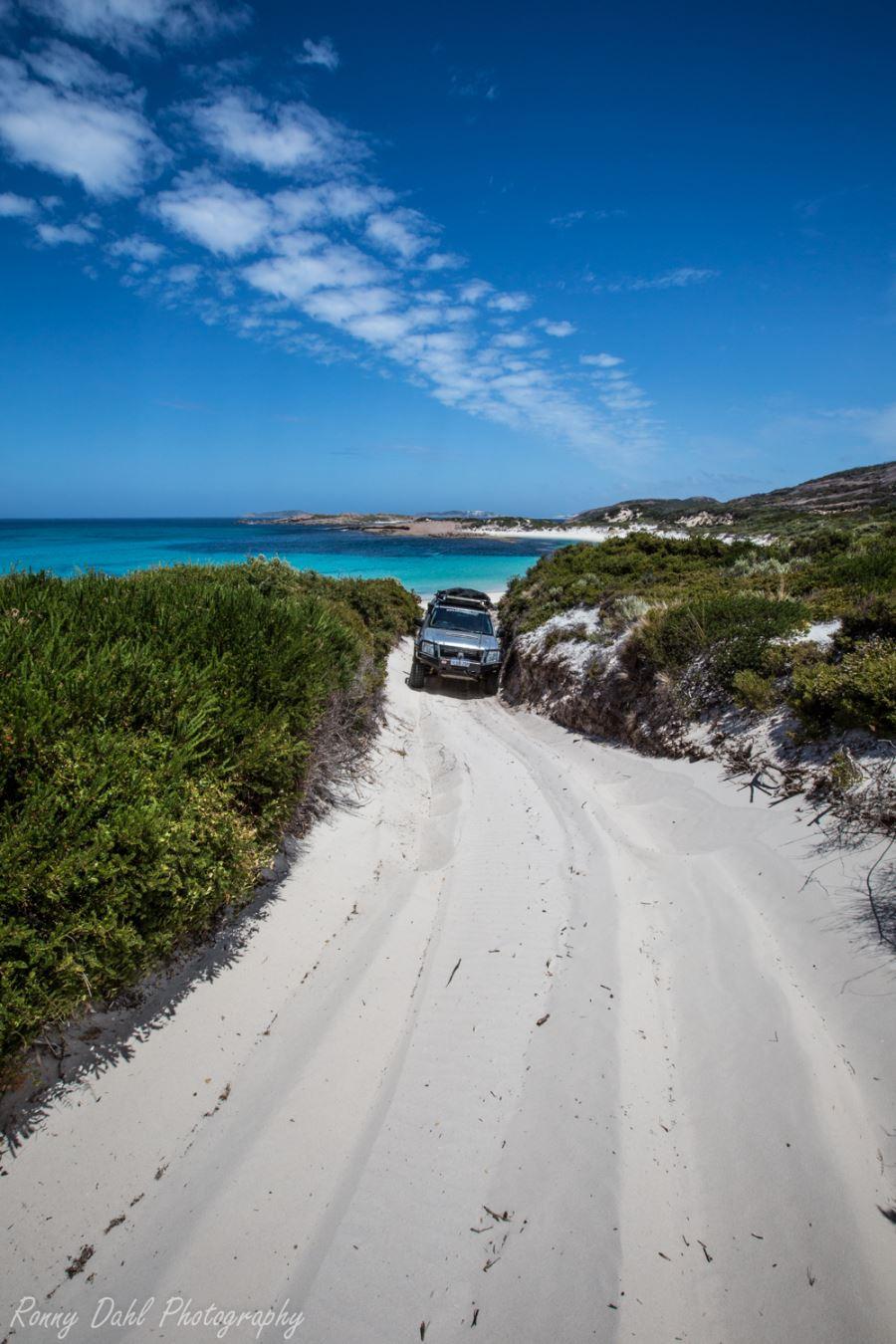 Holden Rodeo taking on soft sand tracks.