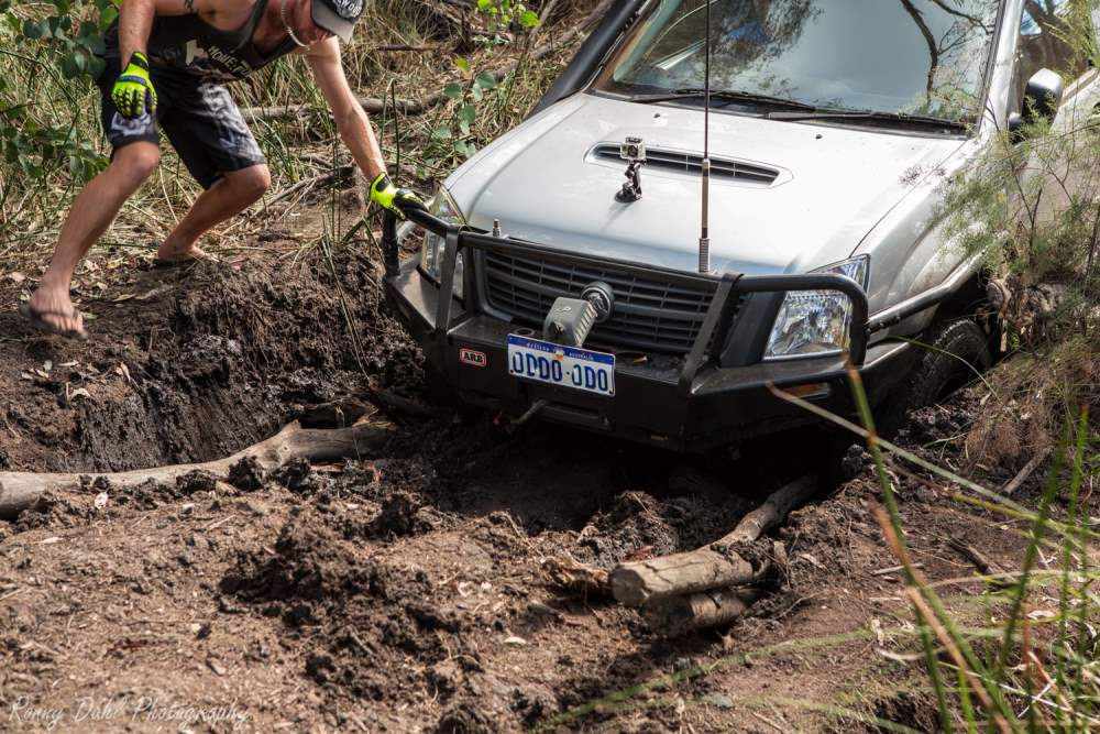 Track building. How to get your 4x4 out of the mud.