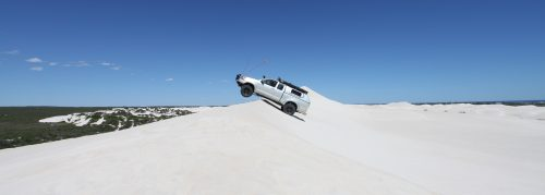 sand dune driving at Lancelin WA.