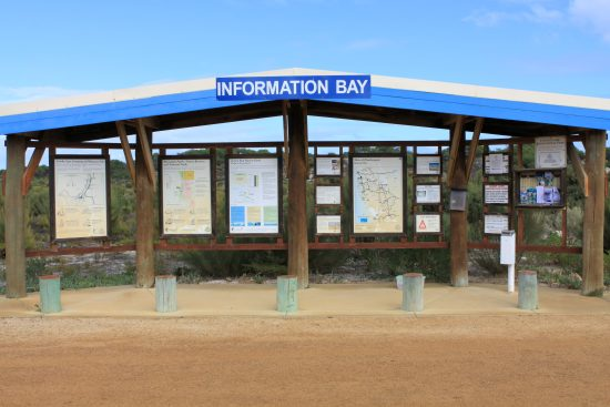 Sandy Cape info bay.