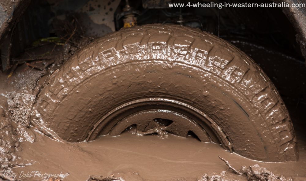 Stuck in mud with a 4x4.