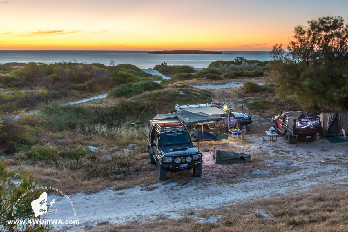 Bush camping on the coast.
