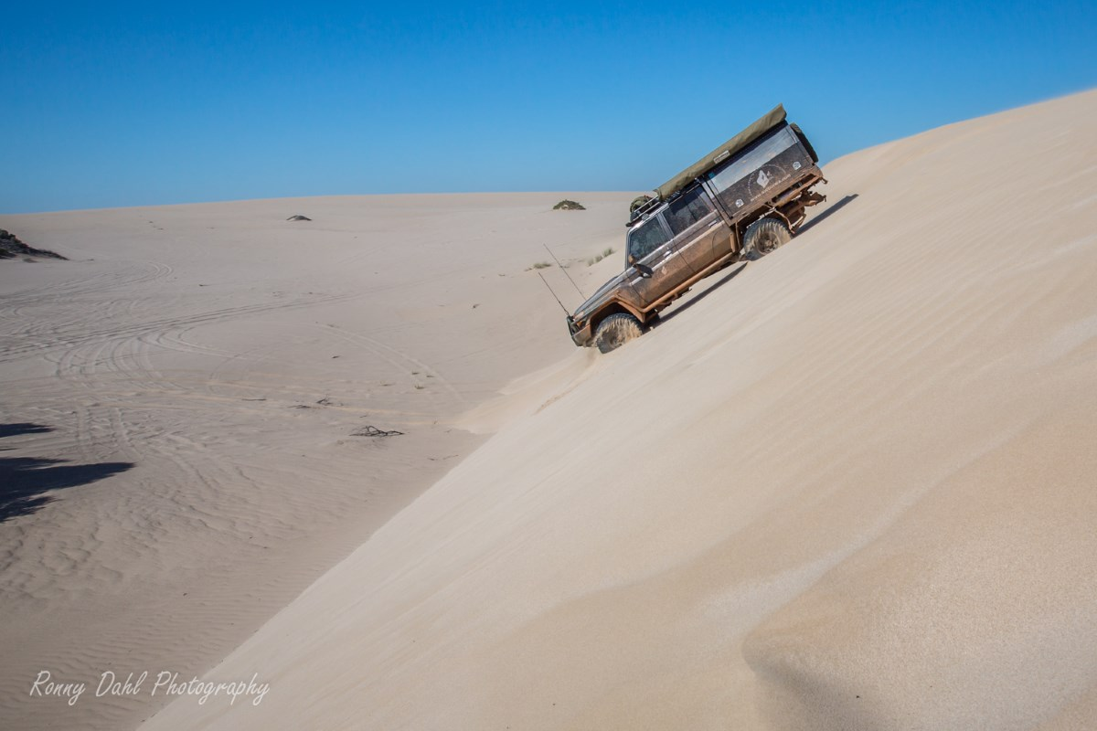 79 Series Land Cruiser in the dunes.