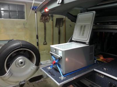 fridge on drawer unit