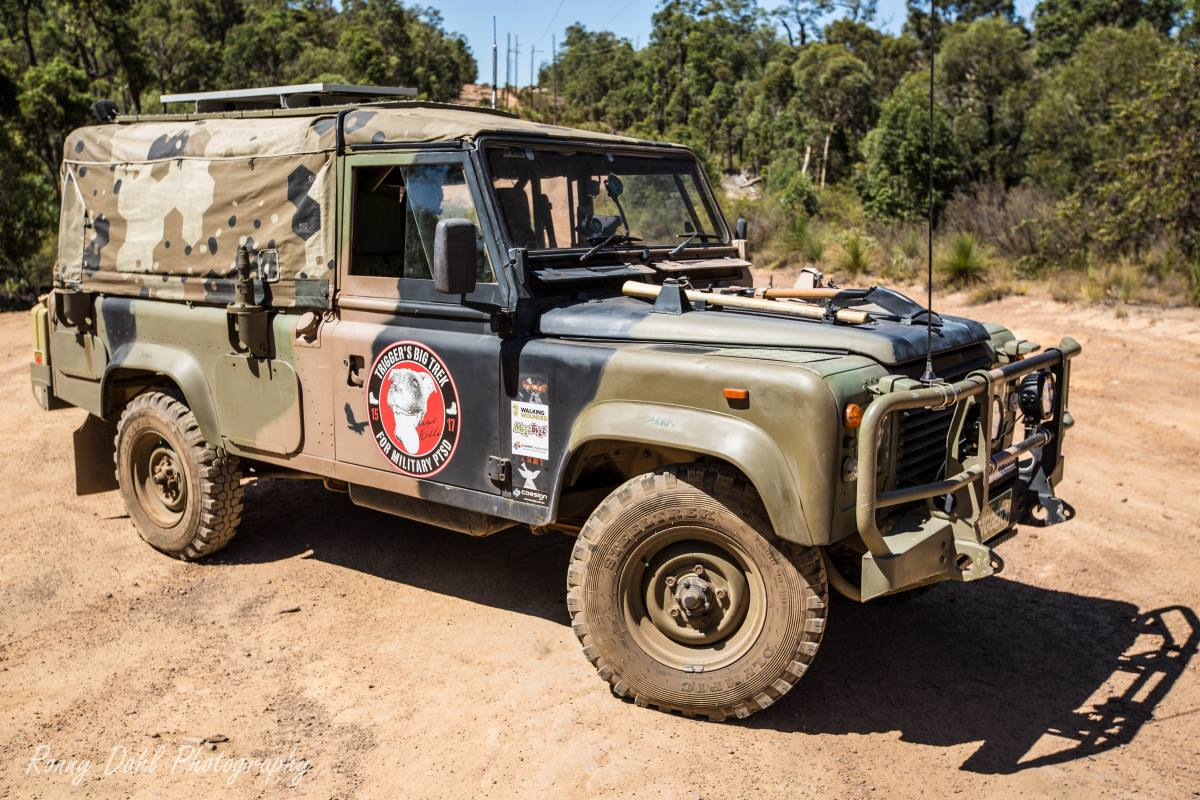army land rover defender 110 on a mission to spread awareness for ptsd. Black Bedroom Furniture Sets. Home Design Ideas