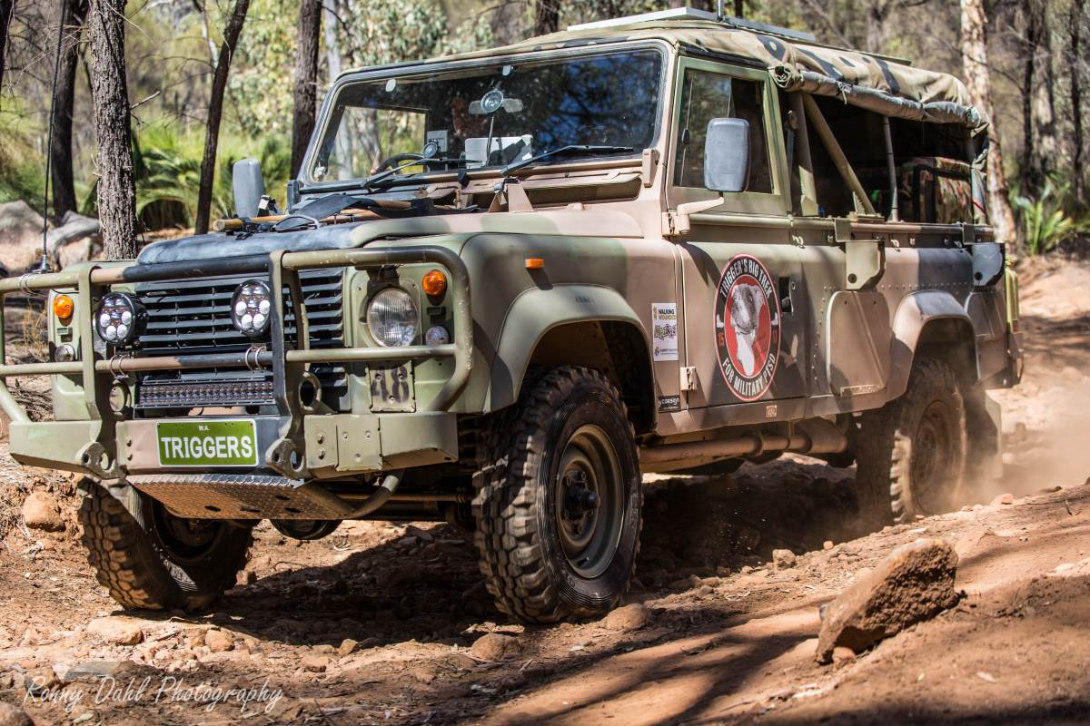army land rover defender 110 on a mission to spread
